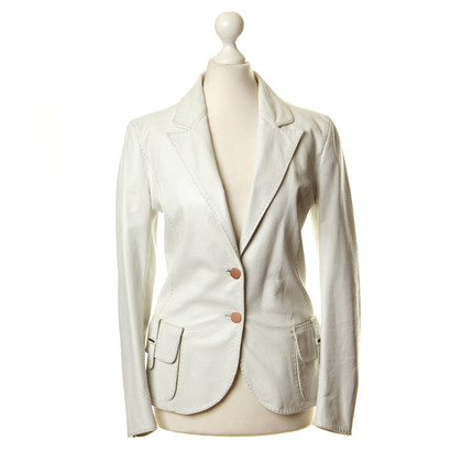 Fendi Off-white leather Blazer