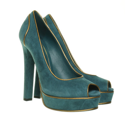 Gucci Peep-toes in teal