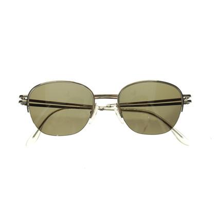 Jil Sander Silberfarbene Sonnenbrille