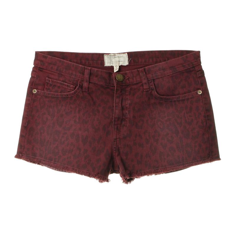 Current Elliott Leo-print shorts