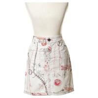 Marc Cain Denim skirt with print
