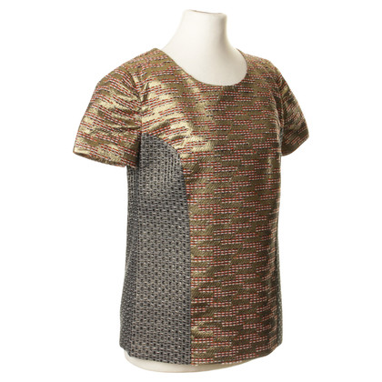 Matthew Williamson Camicia del mix di reticolo metallico
