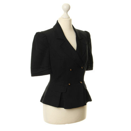 Roberto Cavalli Short sleeve Blazer in black