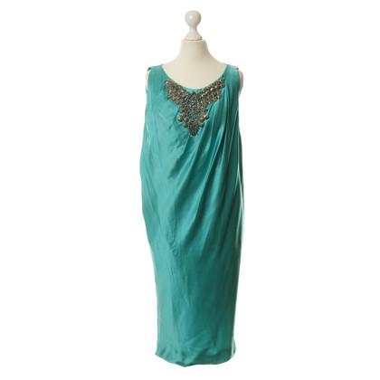 Alberta Ferretti Silk dress with Schmuckapplikation