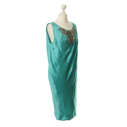 Alberta Ferretti Silk dress with Schmuckapplikation