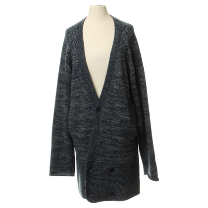 Humanoid Knitted coat in blue grey