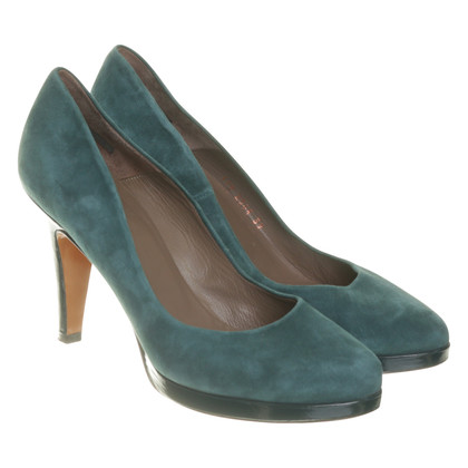 René Lezard pumps in teal