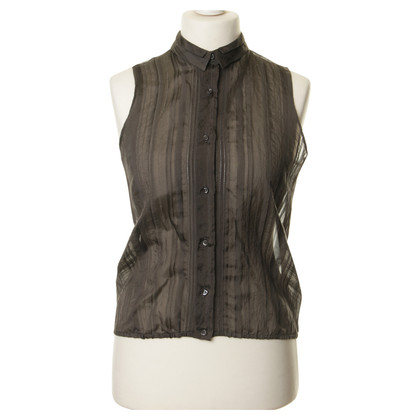 Other Designer Antonio Berardi - transparent blouse in grey
