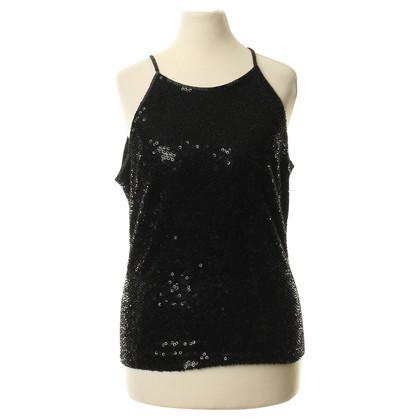 Jenny Packham Sequin top in zwart