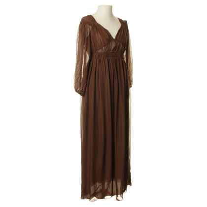 Philosophy di Alberta Ferretti Zijden jurk in Brown