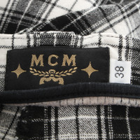 MCM Pants with plaid pattern