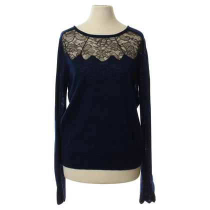 Maje Summer sweater with lace trim