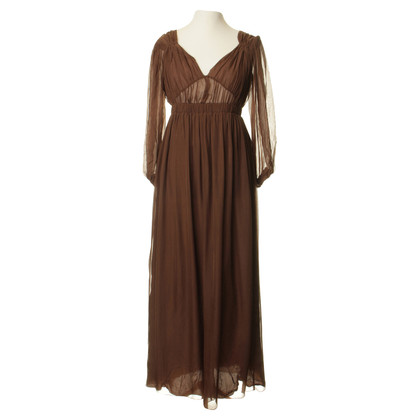 Philosophy di Alberta Ferretti Silk dress in Brown