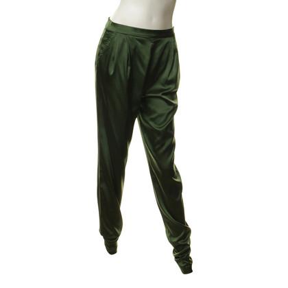 René Storck Silk pants in green