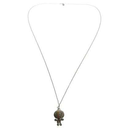 Swarovski Robot necklace