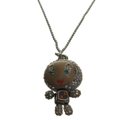 Swarovski Robot necklace