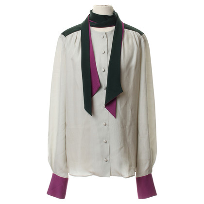 Other Designer Hamilton - button blouse in multi color