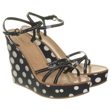 Miu Miu Platform sandal with dots