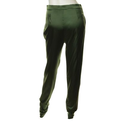 René Storck Zijde broek in het groen