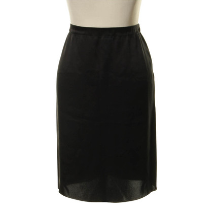 Lanvin Black silk skirt