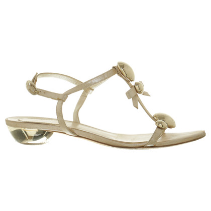 Christian Dior Sandalette in Goldton