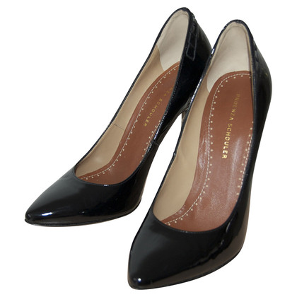 Proenza Schouler Black patent leather pumps