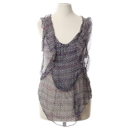 Isabel Marant Silk top with back neckline