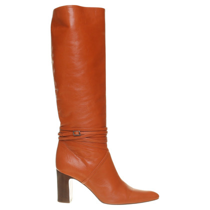 Dries van Noten Lederstiefel in Orange