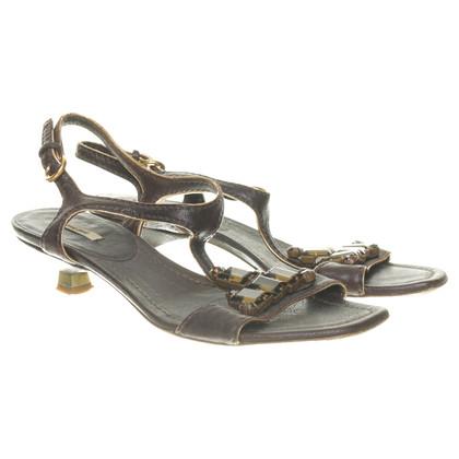 Miu Miu High heel sandal with precious stones