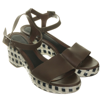 Marni Wedges mit Flecht-Optik