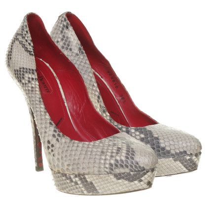 Cesare Paciotti pumps reptile leather