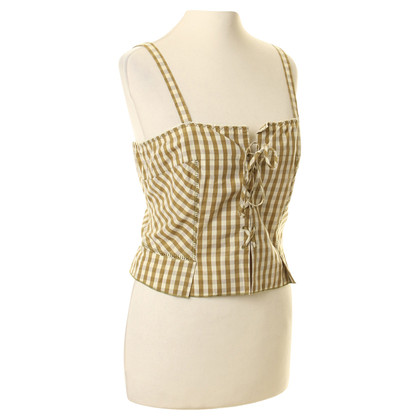 Philosophy di Alberta Ferretti Bustier top with Vichy-pattern