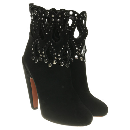 Alaïa Ankle boots with studs trim
