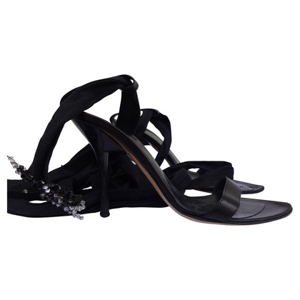 Baldinini stiletto heeled sandals with tie up laces