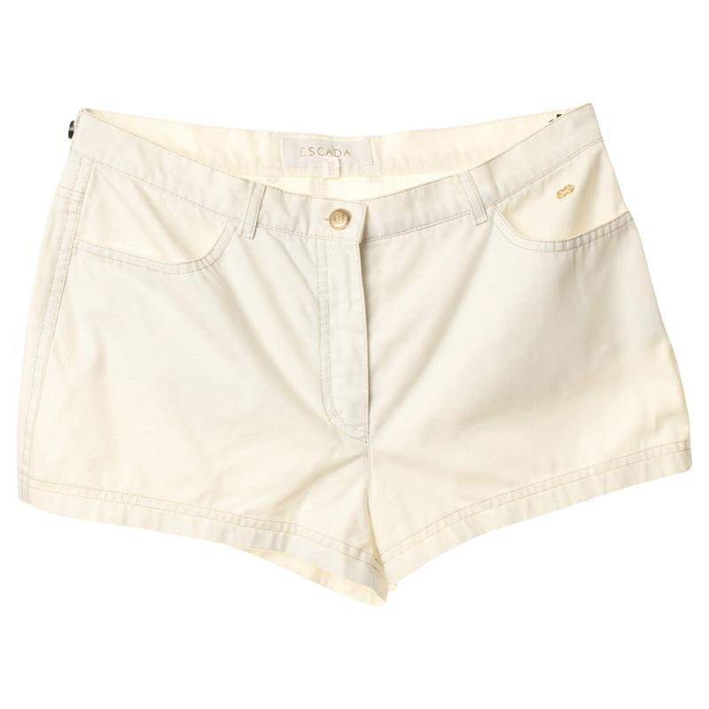 Escada Shorts with gold stitching and rhinestone