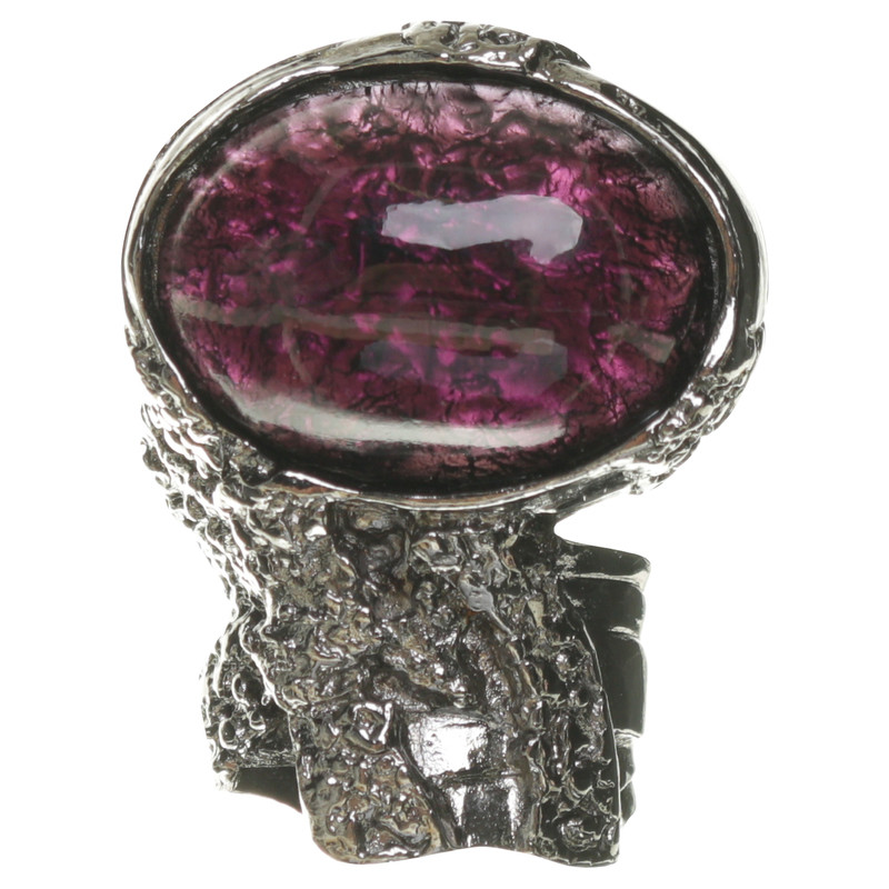 "Yves Saint Laurent ""Arty"" with gemstone ring"