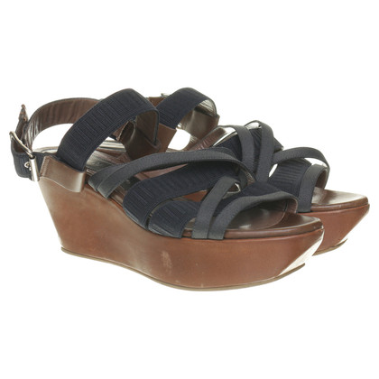 Marni Platform sandals in Brown and blue