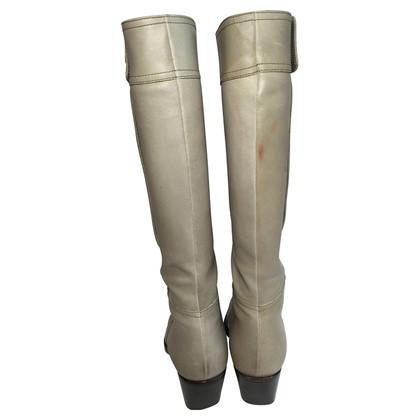Miu Miu Gray cowboy boots