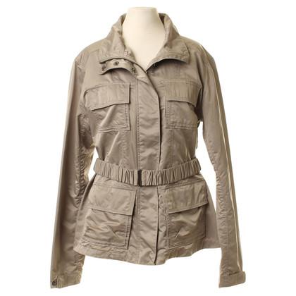 René Lezard Lightweight jacket with waist belt