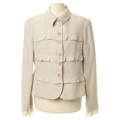 Armani Collezioni Short jacket with ruffle