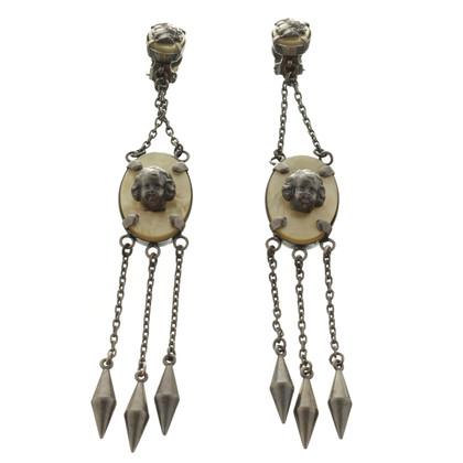 Jean Paul Gaultier Clip earrings with reliefs