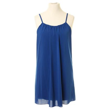 Alice + Olivia Kleid in Blau mit Raffungen