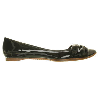 Sigerson Morrison Zwarte lakleder van ballerina 's