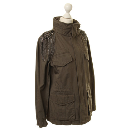 Haute Hippie Parka met beaded trim