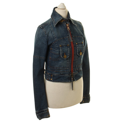 Dsquared2 Denim jacket with copper seams