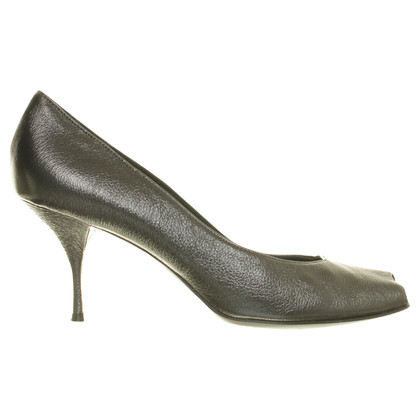 René Lezard Peep-toes in anthracite