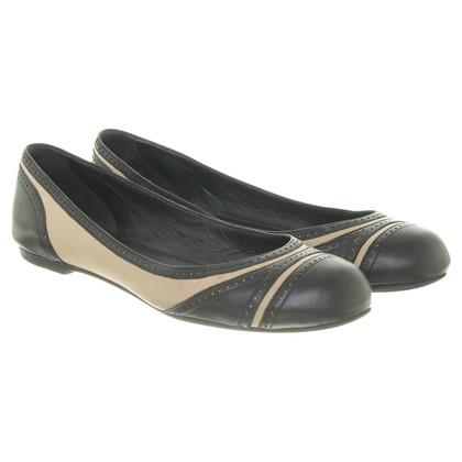 Bottega Veneta Ballerina's in zwart en crème