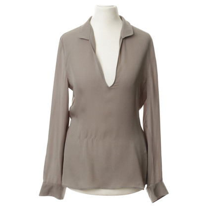 Armani Silk blouse in stone grey