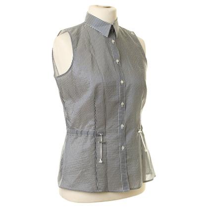 Armani Collezioni Mouwloos blouse met strepen