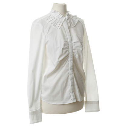 René Lezard Blouse with pleats detail